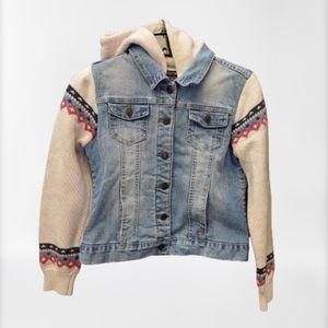 Vigoss Girl's Jean Knit Hooded Jacket